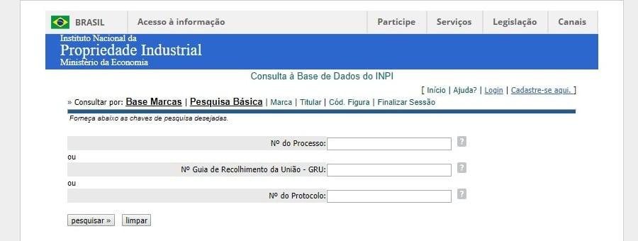 Meu registro: Guia de acompanhamento INPI