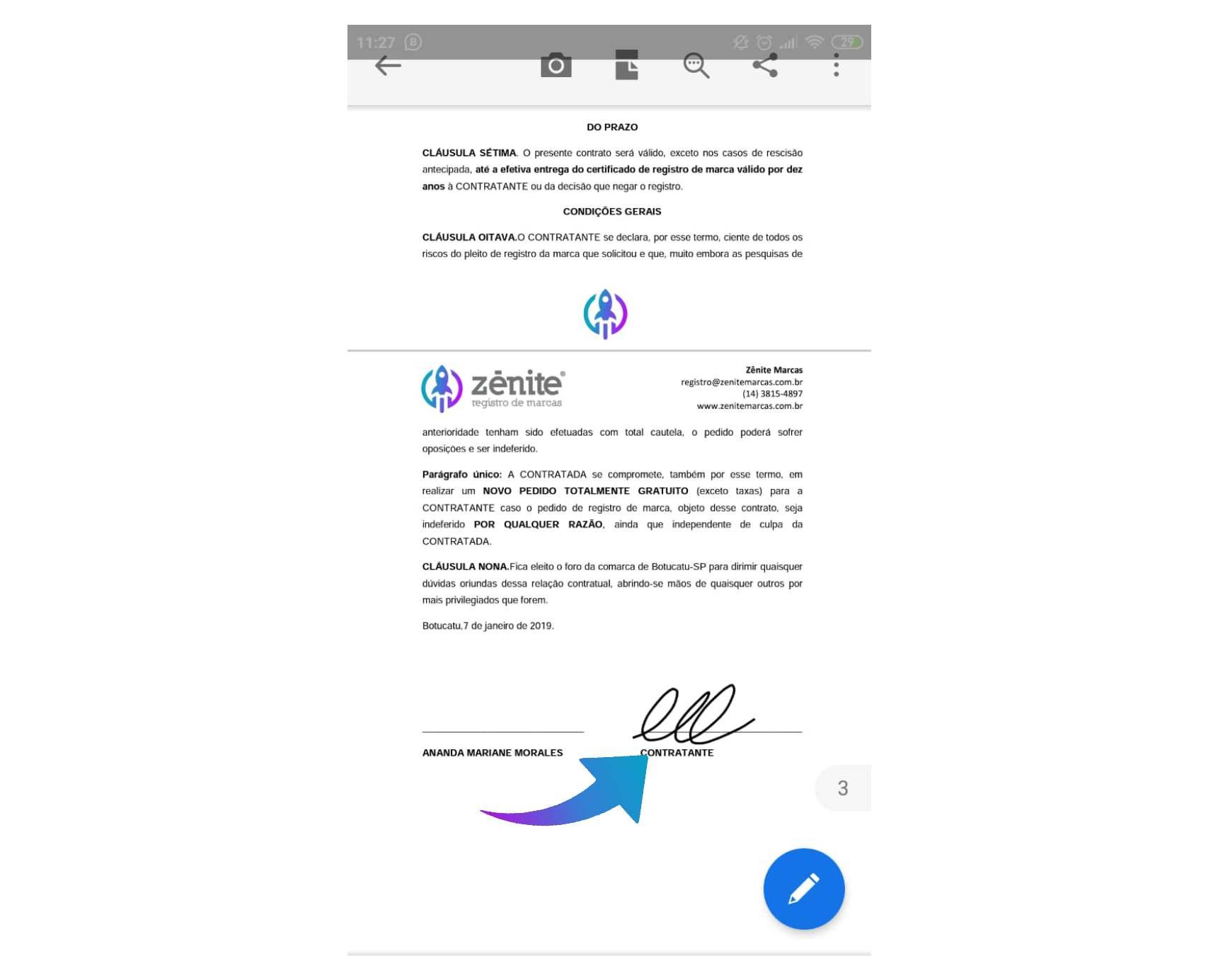 Passo 6 Como assinar PDF no celular