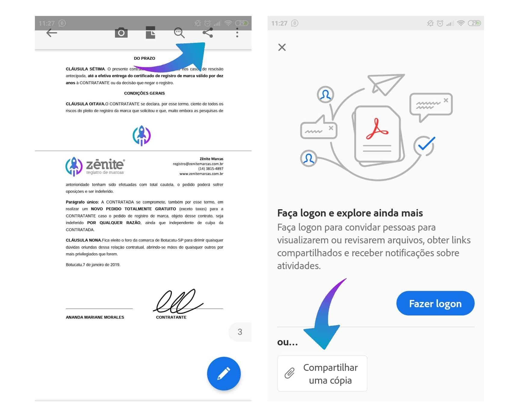 Passo 7 Como assinar PDF no celular